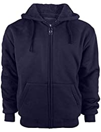 Men's Zip Up Fleece Hoodies Winter Heavyweight Sherpa Lined Thermal Jackets