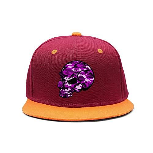 Wlpjsjkd Skull Pink Camouflage Unisex Cotton 90s Flat Baseball Hats]()