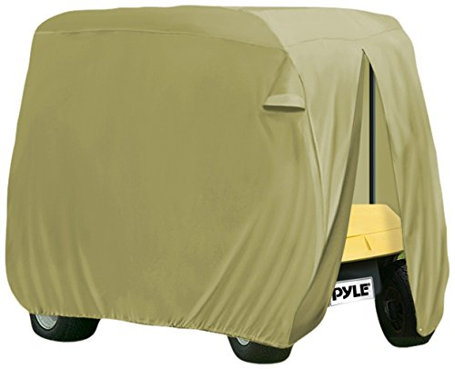 Pyle PCVGFCSO22 Armor Shield Golf Cart Zipper Protective Storage Cover, Fits 2 Passenger Car, Indoor/Outdoor,