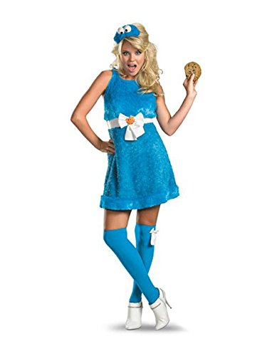 (Disguise Women's Sesame Street Cookie Monster Sassy Costume, Blue,)
