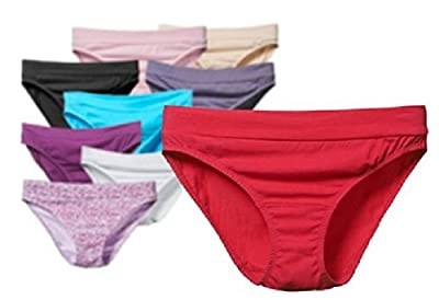 Fruit of the Loom Women's 9 Pack Cotton Stretch Bikini Panties