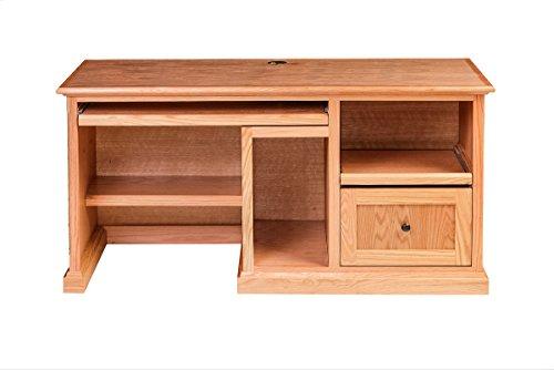Forest Designs Mission Desk: 60W X 30H X 24D (Black Knobs) Merlot Oak