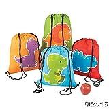 Little Dinosaur Drawstring Backpacks - 12 ct