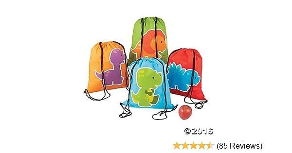 Little Dinosaur Drawstring Backpacks 12 ct