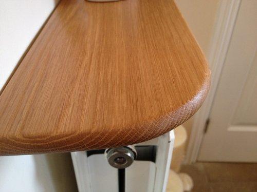 Solid Oak Radiator Shelf - Pre Finished 1200 x 150 x 20mm SHELFPRE1200
