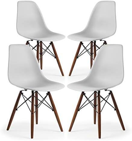 EdgeMod Vortex Side Chair Walnut Legs