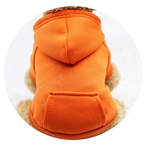 Warm Winter Clothes cat pet Small Dog cat Coat Jacket Puppy Sweatshirts Sweater cat Costume Sportswear,Orange,M ()