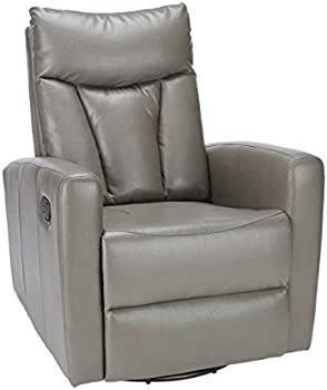 Monarch Specialties Bonded Leather Recliner Swivel Glider
