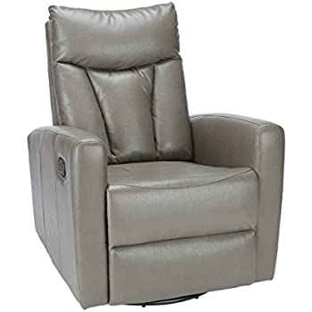 Monarch Specialties I 8087GY Charcoal Grey Bonded Leather Recliner Swivel Glider  sc 1 st  Amazon.com & Amazon.com: Monarch Specialties I 8087GY Charcoal Grey Bonded ... islam-shia.org