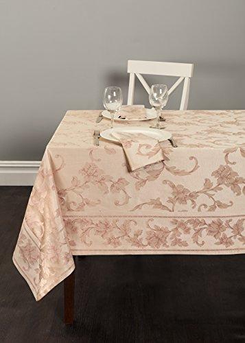 "Harmony Scroll Tablecloth (Blush, 60"" X 120"" Rectangular)"