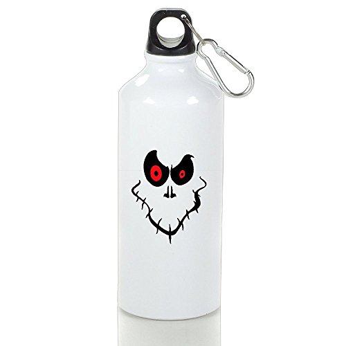 Halloween Ghost Face Aluminum Sports Water Bottle, Great For Outdoor And Sport Activities (Simple Halloween Face Paint For Guys)
