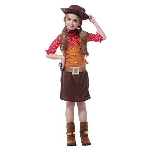 LOLANTA Western Cowgirl Costume Halloween Fancy Dress Cosplay Outfit (4-5) -
