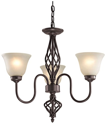 Cornerstone Lighting 2203CH/10 Thomas Lighting Santa Fe 3-Light Chandelier, 24