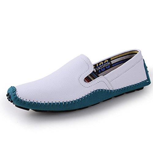 Cuero Marea M White Zapatos conducción Trabajo Casuales Zapatos Zapatos Zapatos Los de de de Hombre amp;M Zapatos 7Fqw7HT