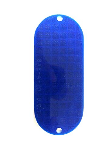 Cortina Safety Products 13-099-09 Oblong Reflector, Dual Mount, Blue-Bulk (Pack of 100) by Cortina Safety