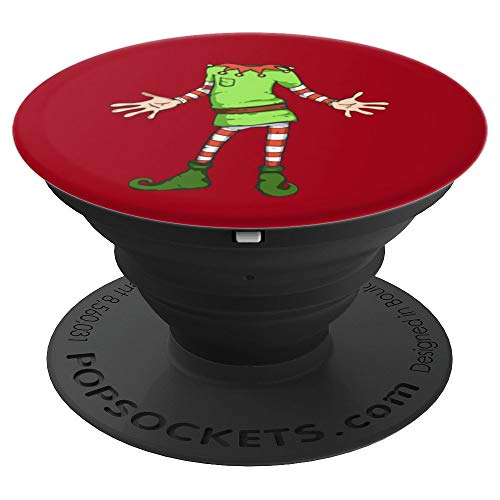ELF COSTUME Christmas Art | Xmas Santa Helper Design - PopSockets Grip and Stand for Phones and Tablets