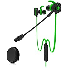 HD Gaming Headset with Mic 3.5mm in-ear Noise Cancelling Portable Mobile Game Earbuds for Iphone 6/Samsung S8 Smartphones PC Tablet PS4 etc (G30-GN)