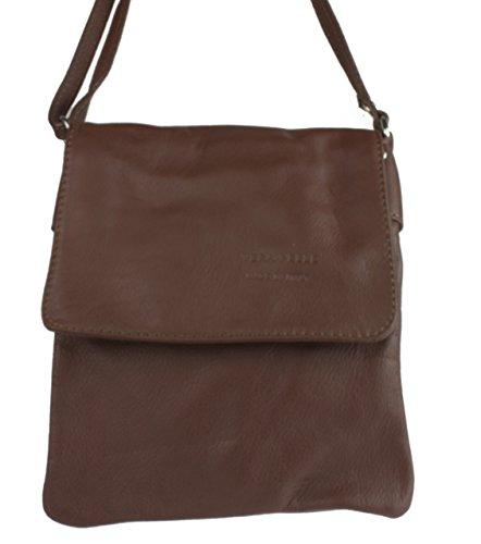 Girly Handbags - Bolso al hombro para mujer - café