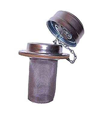Flow Ezy Filters All Stainless Steel Inc Standard Neck Height A08ALSS Top Mounted Tank Filler Breather Standard Cap 8 Basket Depth 1000 Filter Element Size