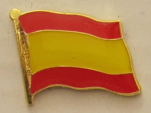 Pin Bandera España sin escudo Bandera Pin Badge Button Banderas ...