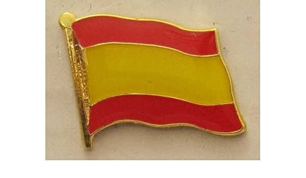 Pin Bandera España sin escudo Bandera Pin Badge Button Banderas Andrés: Amazon.es: Hogar