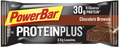 Powerbar Protein Plus - 30g Protéines, Chocolate Brownie, 3.17-Ounce Bars (Pack de 12)