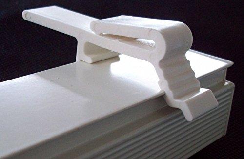 Vertical Blind Dust Cover Valance Clip Holder Bracket, 8 Pack ()