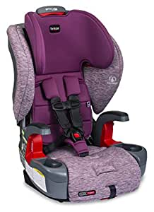 Britax USA E1C199G Britax Grow with You ClickTight Harness-2-Booster Car Seat - 2 Layer Impact Protection - 25 to 120 Pounds, Mulberry [Newer Version of Frontier]