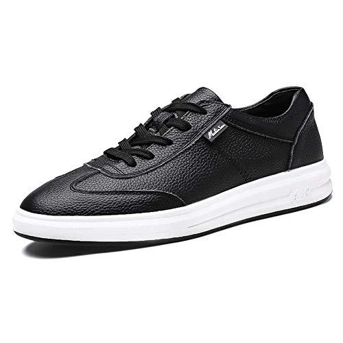 7 Zapatos HhGold tamaño de Hombres Mocasines con Cordones los Cuero para los los Zapatos Ocasionales US UK cómodos Negro Hombres Hombres Blanco 5 8 5 Color de de zw7rqSRzx