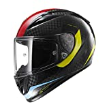 Full Face Helmet, Motorcycle Helmet DOT/ECE Certified Carbon Fiber Full-Covering Helmet Off-Road Racing Overall Helmet Anti-Fog Sun Visor Scooter...