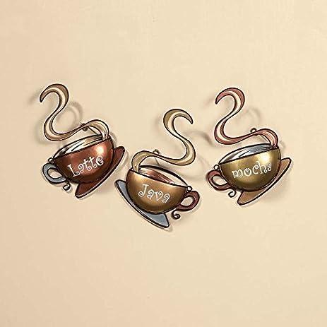 Amazon.com: Coffee House Cup Mug Latte Java Mocha Metal Wall Art ...