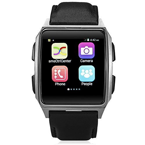 X2 Dual Core Mobile Technology - X2 1.54 Inch Android 4.4 3G Smartwatch Phone Mtk6572 1.2Ghz Dual Core 512Mb Ram 4Gb Rom Pedometer Heart Rate Sensor Wrist Watch