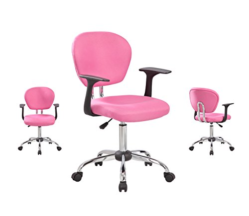 United Chair UOC-1008F-PK Mid-Back Fabric Task Chair with Ar
