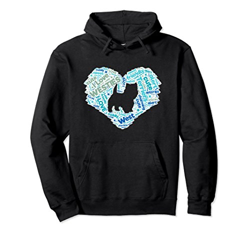 (Unisex Most Wanted White Highland White Terrier Hoodie - Westie C Large Black)