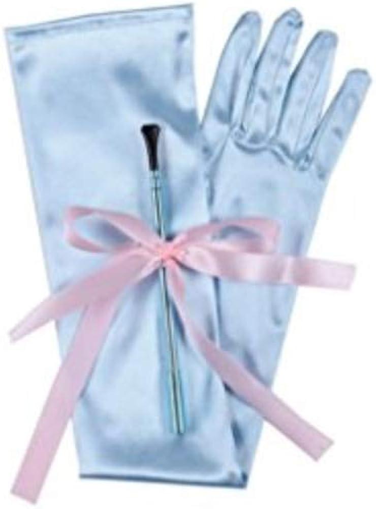 Utopiat Soporte para cigarrillos largo y extensible y conjunto de guantes de sat/én largos para /ópera inspirados en el estilo de Audrey Hepburn