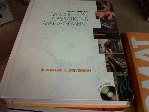 Production/Operations Management: With Standard Cd-Rom Package (Irwin/Mcgraw-Hill Series Operations and Decision Science
