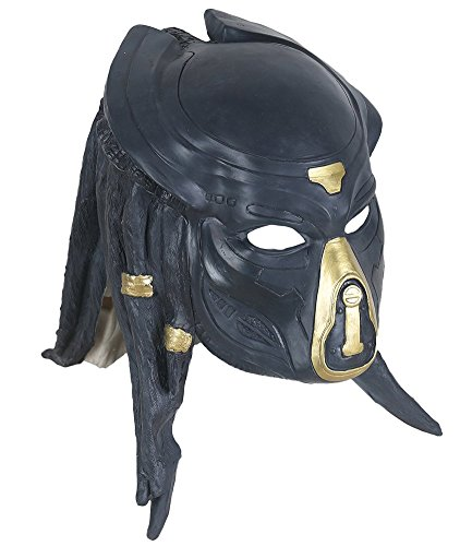 Yacn Alien vs Predator mask Warrior Costume Party Halloween Mask (Black) ()