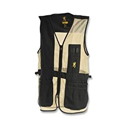 Browning Trapper Creek Left Hand Vest, Black/Tan, Large