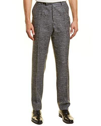 Billy Reid Mens Kooper Silk, Linen & Wool-Blend Pant, 32, Grey