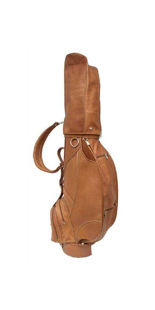 Golf Bag w Umbrella Slot & Detachable Hood in Saddle