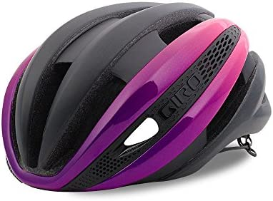 Giro Synthe MIPS Road Cycling Helmet Matte Black Bright Pink Large