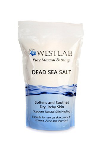Dead Sea Salt Mineral Bathing (Soothing, for Irritated Skin) 2 Pack (4.4 lb total) Westlab 2 pack Dead Sea 2.2lb