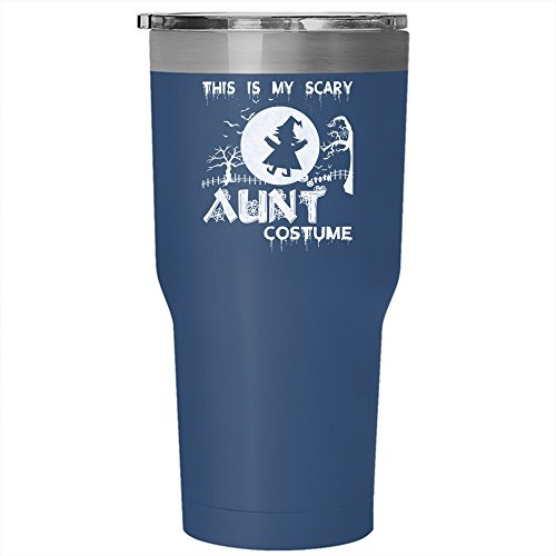 This Is My Scary Aunt Costume Tumbler 30 oz Stainless Steel, Halloween Travel Mug (Tumbler - Blue)