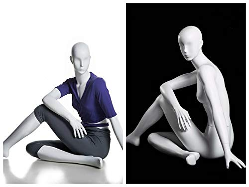 (MC-YOGA09) ROXYDISPLAY™ High end Quality. Female Yoga Position of Sitting, Full Body, Abstract Head, NO Base by ROXYDISPLAY™ (Image #2)