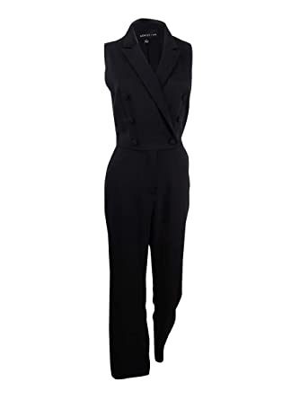 cf76f645cdec Amazon.com  Adelyn Rae Women s Tuxedo Jumpsuit (M