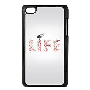 Life Typography iPod Touch 4 Case Black Exquisite designs Phone Case KM449J19