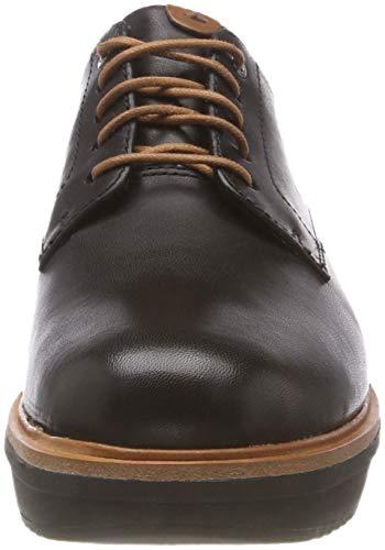 Teadale Negro Zapatos Cordones Leather Black para Clarks Mujer de Brogue Rhea A1dx4qw4