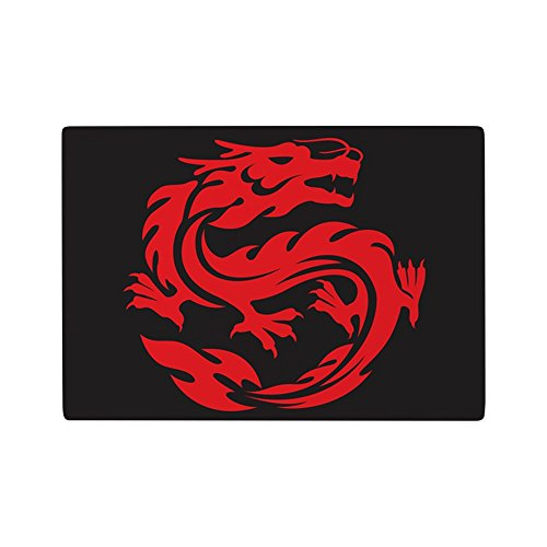 (Glass Cutting Board Tribal Red Dragon)