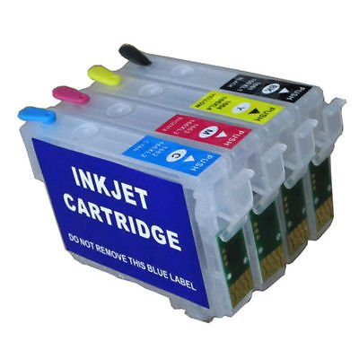 1 Full set of High Empty Refillable Quality Non Oem Ink Cartridges Auto reset level for Epson Expression Home XP-235 XP-245 XP-247XP-332 XP342 XP-335 XP-432 XP-435 XP 245 XP-342 XP-442 XP-255 XP-257 XP-352 XP-352 XP-355 XP-452 XP-455 Printers to replace 2
