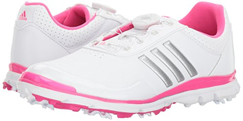 Pictures of adidas Women's Adistar Lite BOA Golf Q4497132 White/Silver Metallic/Shock Pink 4